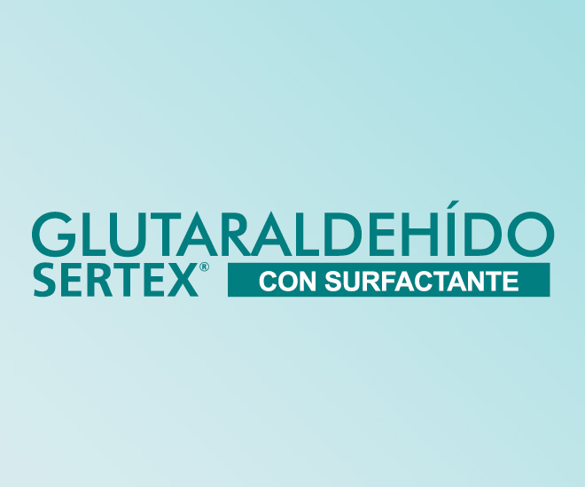 Glutaraldehído Sertex Con surfactante