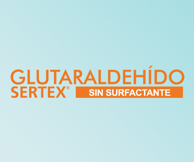 Glutaraldehído Sertex Sin surfactante